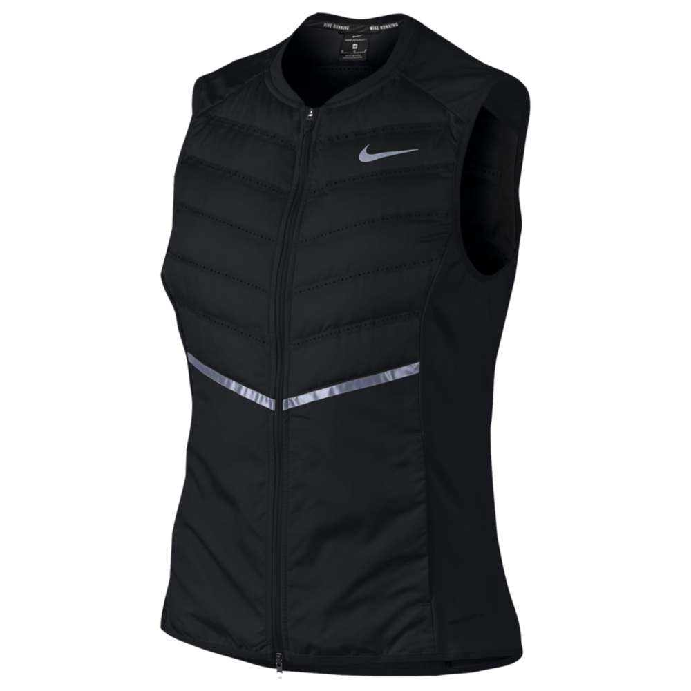 ナイキ レディース ランニング・ウォーキング トップス【Dri-FIT Aeroloft Vest】Black/Pure Platinum/Reflective Silver