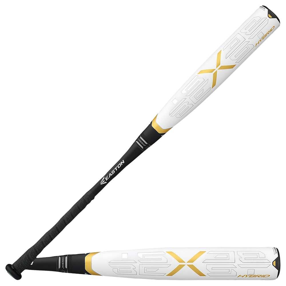 イーストン メンズ 野球 バット【Beast X Hybrid BBCOR Baseball Bat】White/Black/Gold