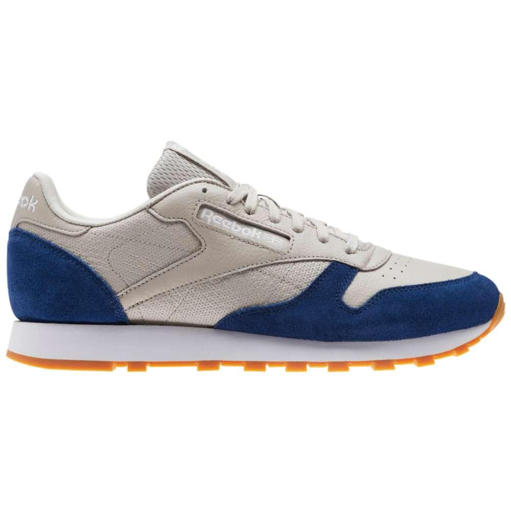 リーボック メンズ ランニング・ウォーキング シューズ・靴【Classic Leather】Sand Stone/Washed Blue/White