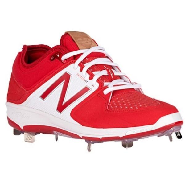 ニューバランス メンズ 野球 シューズ・靴【3000V3 Metal Low】Red/White