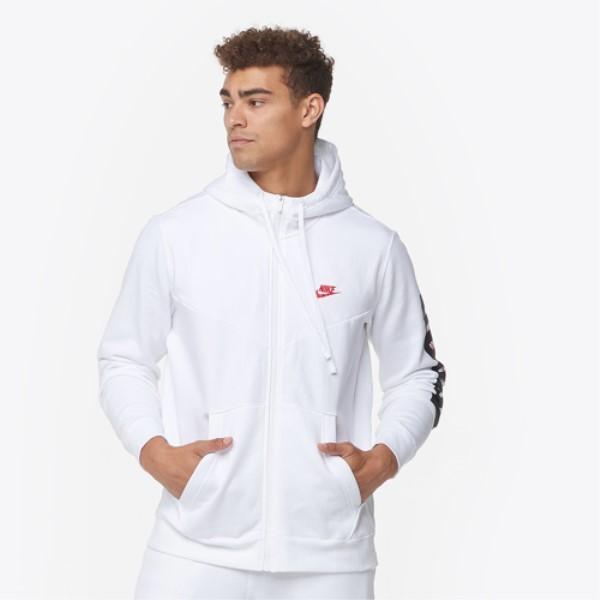 ナイキ メンズ トップス フリース【JDI Fleece Full-Zip Hoodie】White/White/University Red