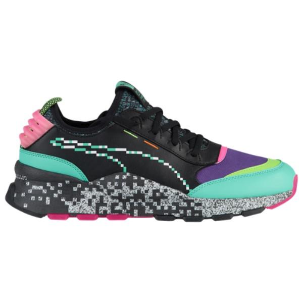 プーマ メンズ ランニング・ウォーキング シューズ・靴【RS-0】Black/Green Gecko/Knockout Pink