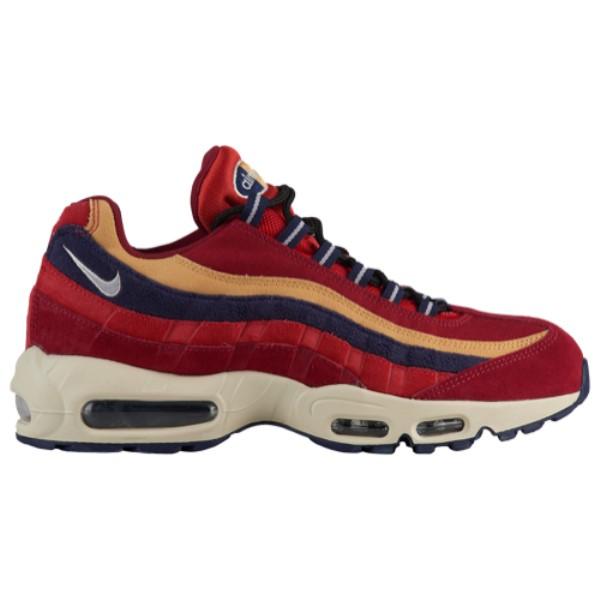 ナイキ メンズ ランニング・ウォーキング シューズ・靴【Air Max 95】Red Crush/Provence Purple/Wheat Gold