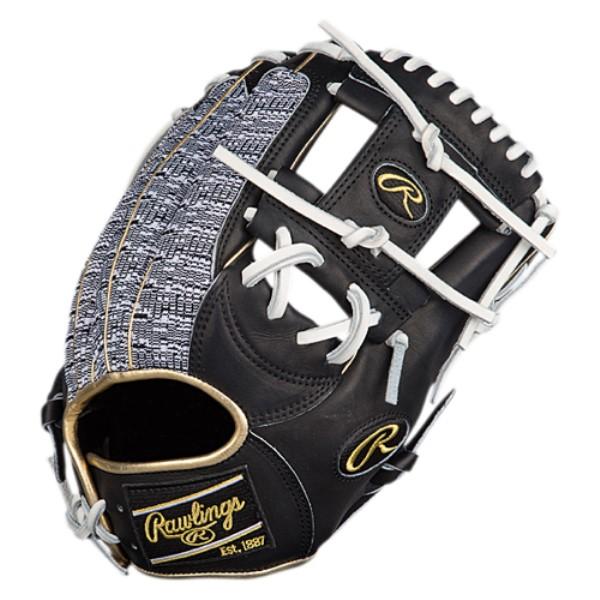 ローリングス ユニセックス 野球 グローブ【Heart of the Hide Fielder's Glove】Black/White/Black Knit