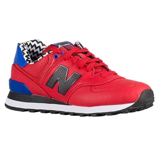 ニューバランス レディース ランニング・ウォーキング シューズ・靴【574】Red/Black