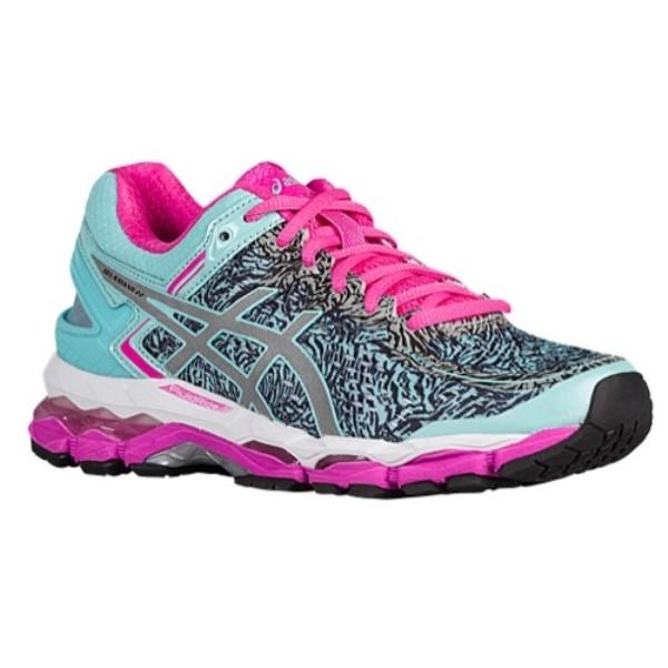 アシックス レディース ランニング・ウォーキング シューズ・靴【GEL-Kayano 22】Aqua Splash/Silver/Pink Glow