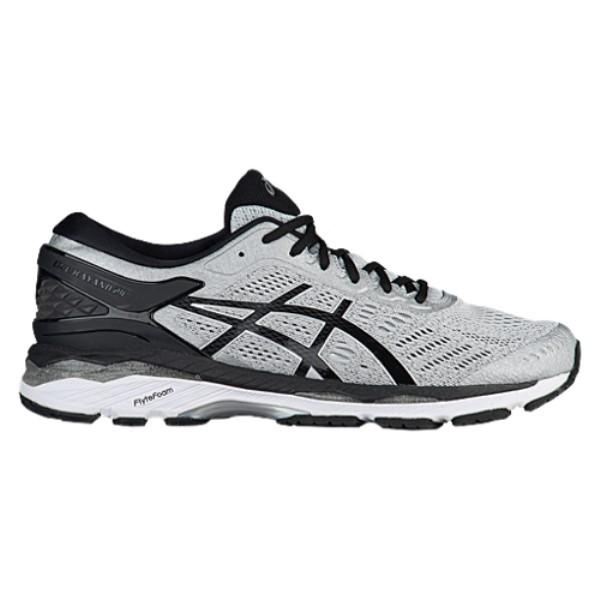 アシックス メンズ ランニング・ウォーキング シューズ・靴【GEL-Kayano 24】Silver/Black/Mid Grey