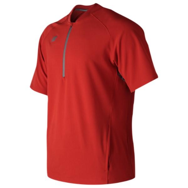 ニューバランス メンズ 野球 トップス【Short Sleeve 3000 Batting Jacket】Red