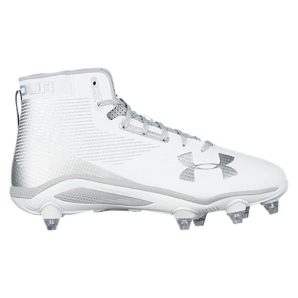 アンダーアーマー メンズ アメリカンフットボール シューズ・靴【Hammer D】White/Metallic Silver
