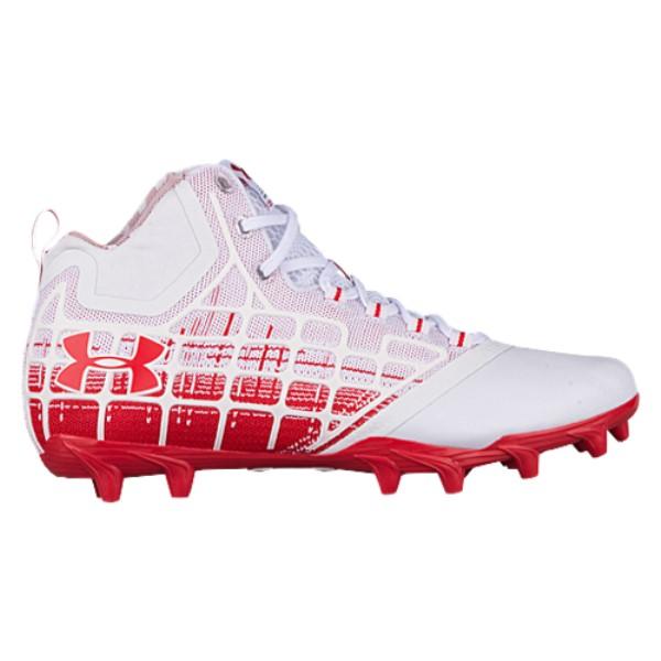 【後払い手数料無料】 アンダーアーマー メンズ ラクロス メンズ シューズ・靴【Banshee MC】White/Red ラクロス Mid MC】White/Red, 福富町:b0166e6c --- rekishiwales.club