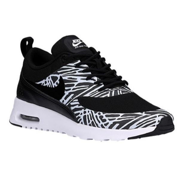 ナイキ レディース ランニング・ウォーキング シューズ・靴【Air Max Thea】Black/Black/White/Metallic Silver
