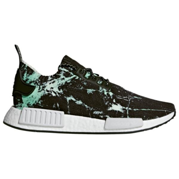 アディダス メンズ ランニング・ウォーキング シューズ・靴【NMD R1】Black/White/Green