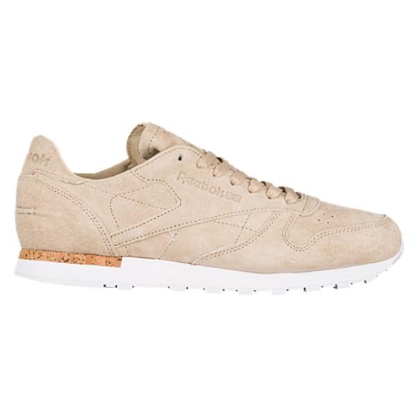 リーボック メンズ ランニング・ウォーキング シューズ・靴【Classic Leather】Oatmeal/Driftwood/White