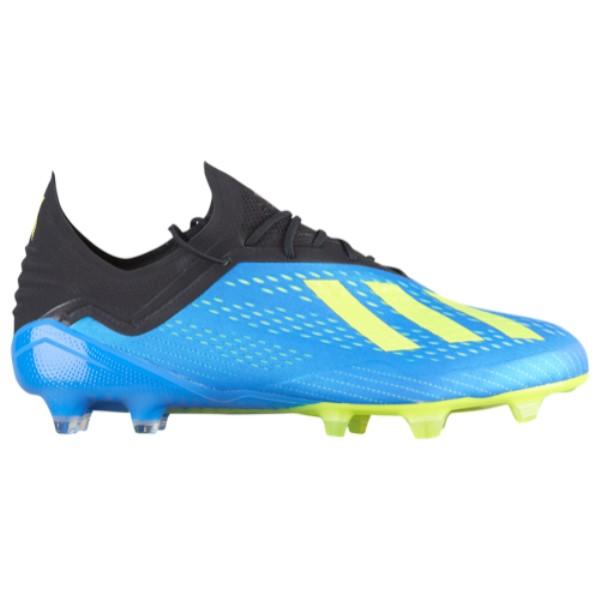 アディダス メンズ サッカー シューズ・靴【X 18.1 FG】Football Blue/Solar Yellow