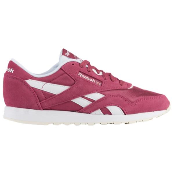リーボック レディース ランニング・ウォーキング シューズ・靴【Classic Nylon】Fire Coral/Canyon Red/Canyon Red/White
