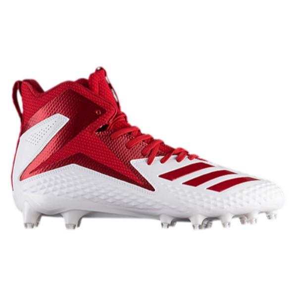 アディダス メンズ アメリカンフットボール シューズ・靴【Freak X Carbon Mid】White/Power Red/Power Red