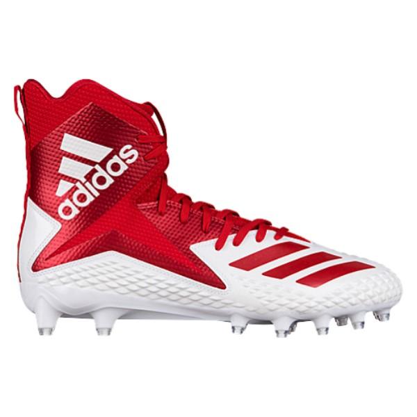 アディダス メンズ アメリカンフットボール シューズ・靴【Freak X Carbon High】White/Power Red