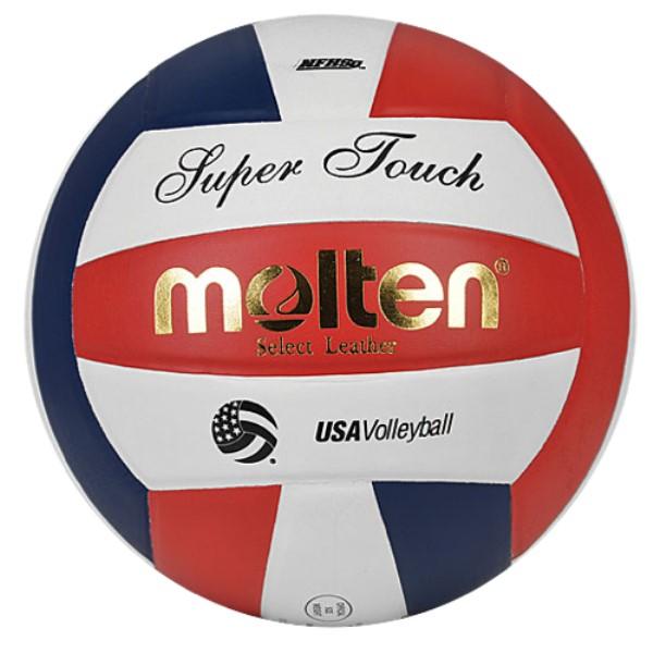 モルテン ユニセックス バレーボール ボール【Team Super Touch NFHS Leather Volleyball】Red/White/Blue