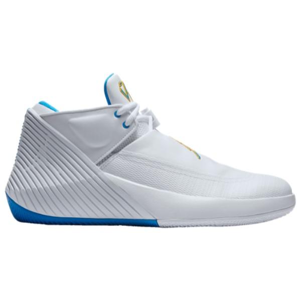 ナイキ ジョーダン メンズ バスケットボール シューズ・靴【Why Not Zero.1 Low】White/Blue Hero/Amarillo