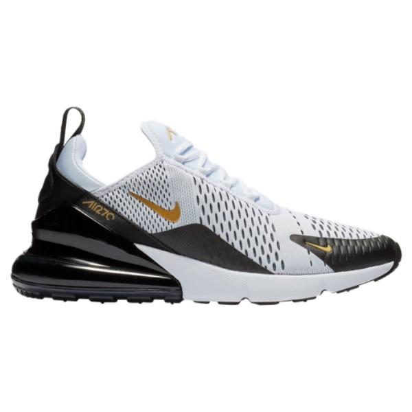 ナイキ メンズ ランニング・ウォーキング シューズ・靴【Air Max 270】White/Metallic Gold/Black