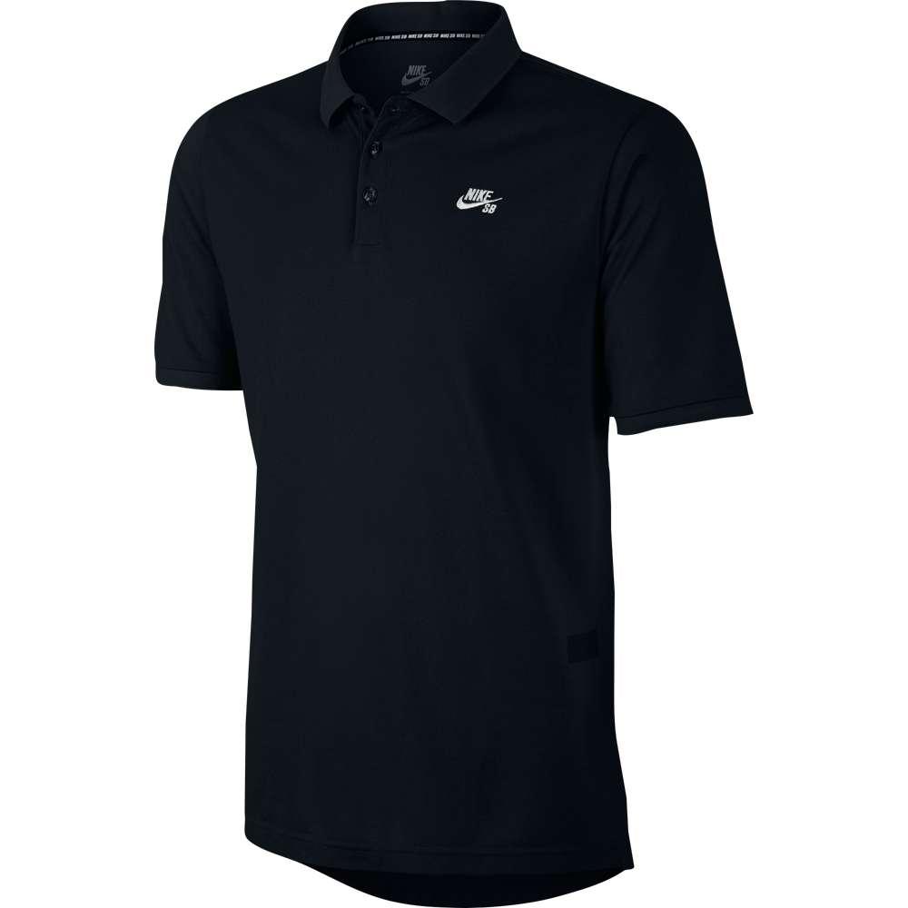 ナイキ Nike SB メンズ トップス ポロシャツ【Dri-Fit Pique S/S Polo】Black/White