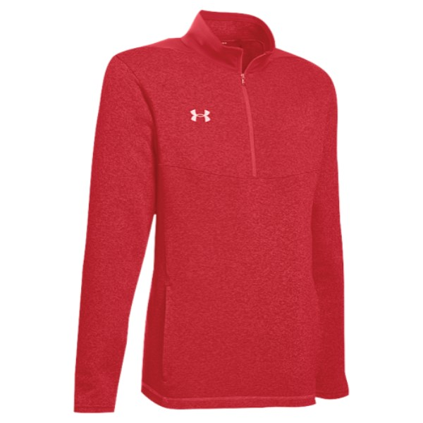 アンダーアーマー Under Armour メンズ トップス【Team Elite Fleece 1/4 Zip Pull Over】Red/White