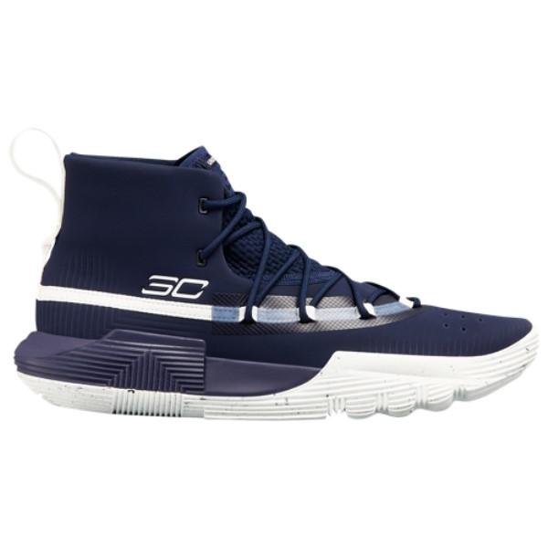 アンダーアーマー Under Armour メンズ バスケットボール シューズ・靴【SC 3Zero II】Midnight Navy/White