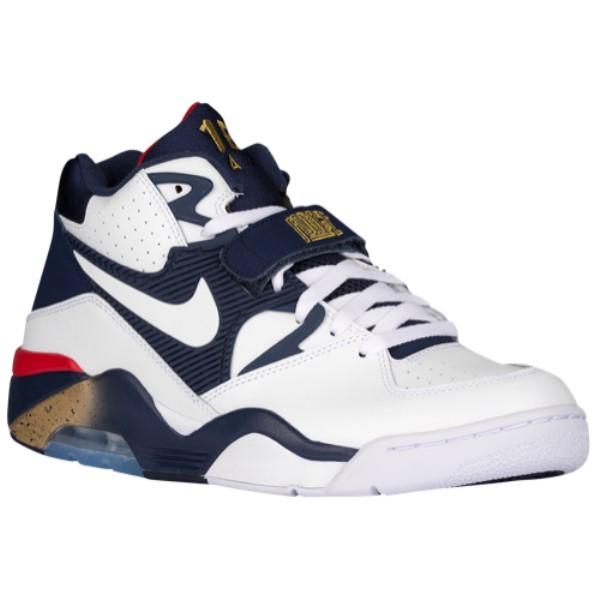 ナイキ Nike メンズ バスケットボール シューズ・靴【Air Force 180】White/Midnight Navy/Metallic Gold/White