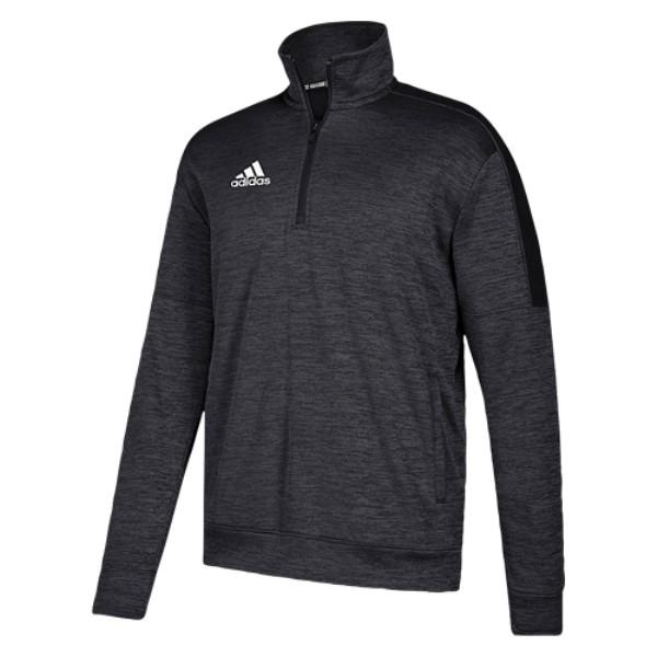 アディダス adidas メンズ トップス フリース【Team Issue Fleece 1/4 Zip】Black/White