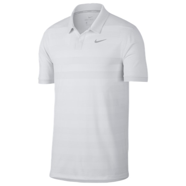 ナイキ Nike メンズ ゴルフ トップス【Zonal Cooling Stripe Golf Polo】White/Silver