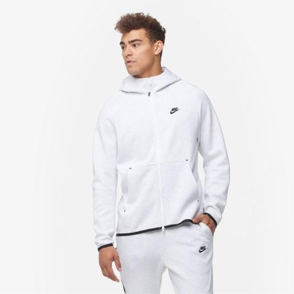 ナイキ Nike メンズ トップス パーカー【Tech Fleece Full-Zip Hoodie】Birch Heather/Black