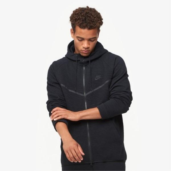 ナイキ Nike メンズ トップス パーカー【Windrunner Tech Icon Texture Hoodie】Black/Black