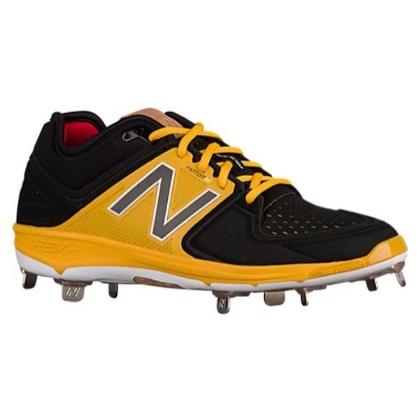 ニューバランス New Balance メンズ 野球 シューズ・靴【3000V3 Metal Low】Black/Yellow