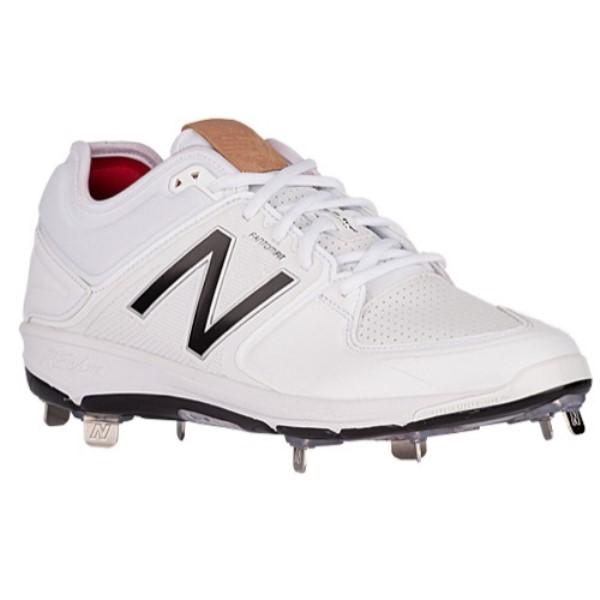 ニューバランス New Balance メンズ 野球 シューズ・靴【3000V3 Metal Low】White/Black