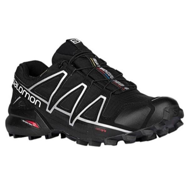サロモン Salomon メンズ ランニング・ウォーキング シューズ・靴【Speedcross 4 GTX】Black/Silver Met-X