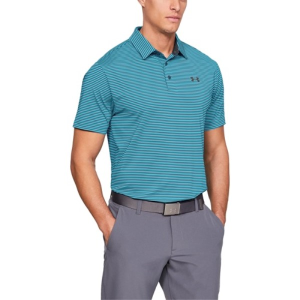アンダーアーマー Under Armour メンズ ゴルフ トップス【Playoff Golf Polo】Venetian Blue/Static Blue