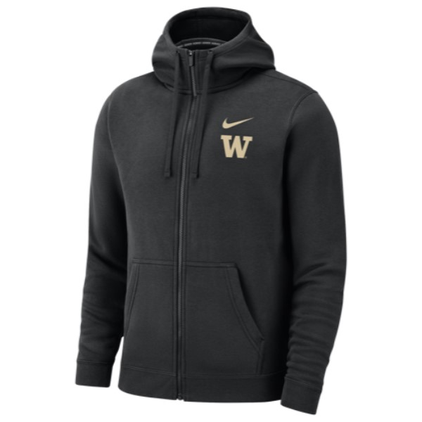 ナイキ Nike メンズ トップス パーカー【College Team Club Full-Zip Hoodie】Black