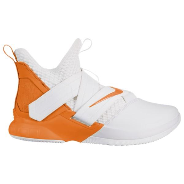 ナイキ Nike メンズ バスケットボール シューズ・靴【LeBron Soldier XII】White/Clay Orange