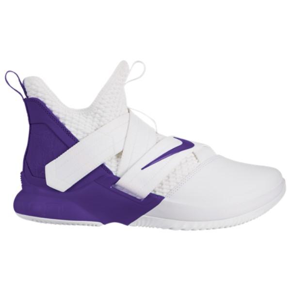 ナイキ Nike メンズ バスケットボール シューズ・靴【LeBron Soldier XII】White/Field Purple