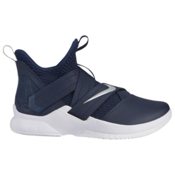 ナイキ Nike メンズ バスケットボール シューズ・靴【LeBron Soldier XII】College Navy/Metallic Silver/White