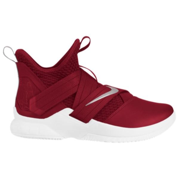 ナイキ Nike メンズ バスケットボール シューズ・靴【LeBron Soldier XII】Team Red/Metallic Silver/White