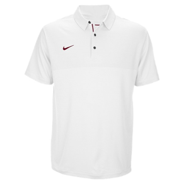 ナイキ Nike メンズ トップス ポロシャツ【Team Sideline Dry Elite Polo】White/Team Maroon