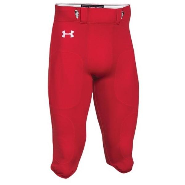 アンダーアーマー Under Armour メンズ アメリカンフットボール ボトムス・パンツ【Team Stock Instinct Pants】Scarlet/White