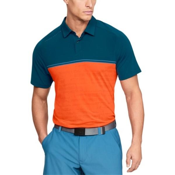 アンダーアーマー Under Armour メンズ ゴルフ Armour Under トップス【Threadborne Calibrate Golf ゴルフ Polo】Techno Teal/Orange, GUZZLE HARAJUKU:11bcfe0b --- jpm.mx
