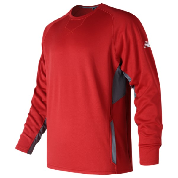 ニューバランス New Balance メンズ トップス フリース【Pullover Fleece Crew 2.0】Red