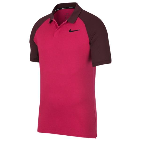 ナイキ Nike メンズ ゴルフ トップス【Dri-Fit Raglan Golf Polo】Rush Pink/Burgandy Crush
