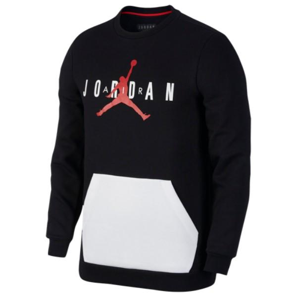 ナイキ ジョーダン Jordan メンズ トップス フリース【Jumpman Air Fleece Crew】Black/White/Gym Red