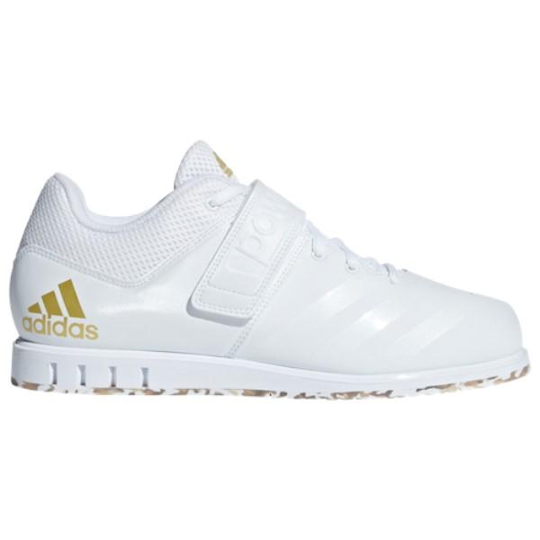 アディダス adidas メンズ フィットネス・トレーニング シューズ・靴【Powerlift.3.1】Footwear White/Metallic Gold