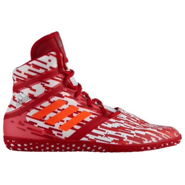 アディダス adidas メンズ レスリング シューズ・靴【Flying Impact】Red/White Digital Print