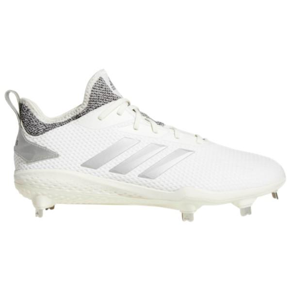 アディダス adidas メンズ 野球 シューズ・靴【adiZERO Afterburner V】White/Metallic Silver